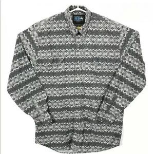 Lone Roo By Roper Mens Long Sleeve Button Shirt